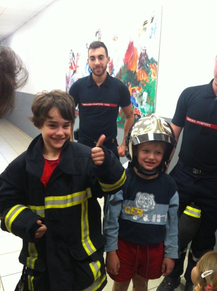 Visite à la caserne des pompiers