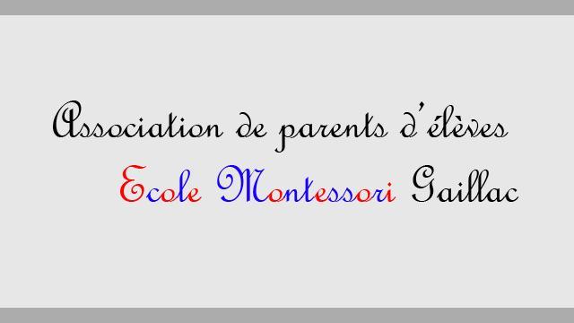 Association parents d'élèves Montessori Gaillac